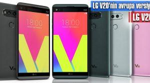 LG V20'nin Avrupa Versiyonu: LG V20 S