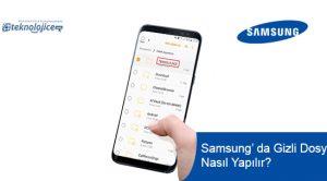 Samsung Gizli Dosya Nasıl Yapılır?