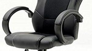 Robas Lund 62515SW3 yönetici ofis koltuğu Ricky in Racer, 60 x 68 x 117 cm, siyah / siyah
